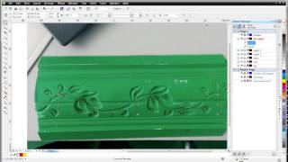 getlinkyoutube.com-artcam relief, 2/3: draw vectors of leaf and stem in CorelDraw