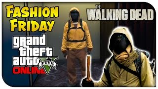 GTA 5 Online FASHION FRIDAY! (Morgan from The Walking Dead, Rick Grimes & Bio-hazard Commando)