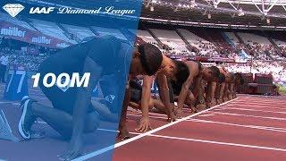 Ronnie Baker 9.90 Wins Men's 100m - IAAF Diamond League London 2018