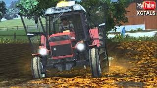 getlinkyoutube.com-Farming Simulator 2013. Głęboka Orka po oborniku (Forest V2)