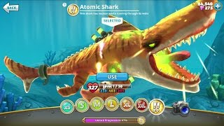 getlinkyoutube.com-Hungry Shark World Atomic Shark Android Gameplay