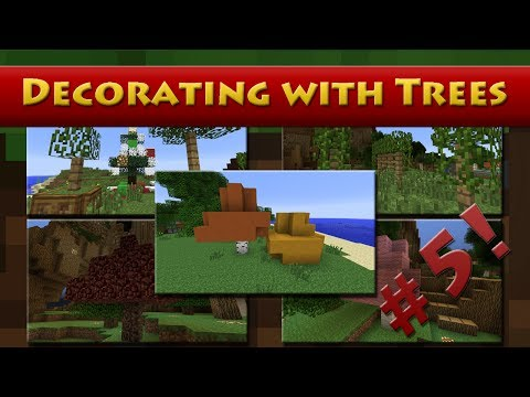 Minecraft - Decorating with Trees - Detail #5 (HD)