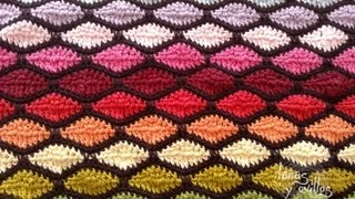 getlinkyoutube.com-Tutorial Punto Ondas Crochet o Ganchillo Wave Stitch