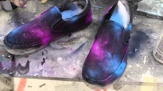 DIY BEST Spray Paint Galaxy Shoes