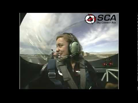 Colleen Prietz, Fuel TV Girl & The PickUp Chick, Shreds the Clouds with Sky Combat Ace