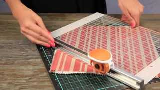 fiskars- 12 x 12 fabric rotary cutter and ruler