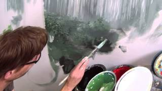 getlinkyoutube.com-Painting A Forest - Mural Joe