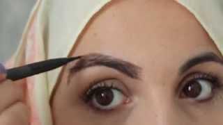 getlinkyoutube.com-How i style my  eyebrows without wax   |      طريقة رسم و ترتيب الحواجب  بدون نمص