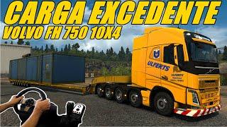 getlinkyoutube.com-CARGA EXCEDENTE - VOLVO FH 750 10x4 - VOLANTE G27!!!