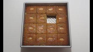 getlinkyoutube.com-How to make Nammura (Basbosa)  ? كيف تصنع النموره / البسبوسه