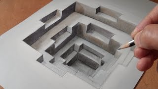 getlinkyoutube.com-Drawing 3D Hole, Trompe-l'oeil