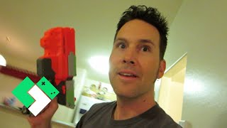 getlinkyoutube.com-LITTLE NERF GUN BATTLE (8.25.14 - Day 878)