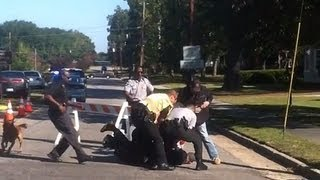 getlinkyoutube.com-VIDEO: Soldier Attacking Protester at Funeral