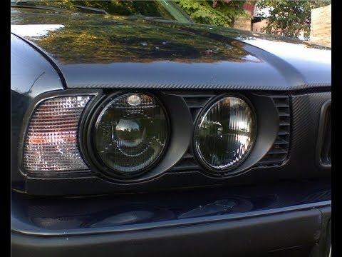 БМВ Е34 Замена лампочек в передних фарах BMW E34