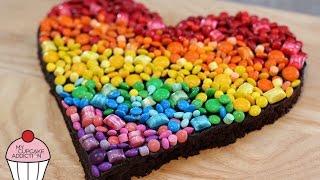 getlinkyoutube.com-RAINBOW Chocolate Brownies - The BEST Chocolate Brownie Recipe EVER | My Cupcake Addiction