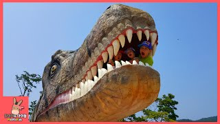 getlinkyoutube.com-초거대 공룡 나타났어요! 공룡대탐험 쥬라기 키즈 카페 놀이 동산 ♡ 안면도 쥬라기공원 테마파크 어린이 장난감 놀이 dinosaur park | 말이야와아이들 MariAndKids