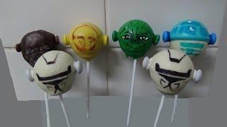 getlinkyoutube.com-cake balls pops, star wars twistheads