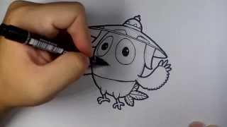 getlinkyoutube.com-นก จิ๊ดริด จาก การ์ตูน ก้านกล้วย วาดการ์ตูน กันเถอะ สอนวาดรูป การ์ตูน