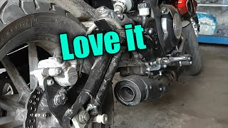 getlinkyoutube.com-Motovlog #11 Benelli's 1st Puncture And New Exhaust /Muffler Sound