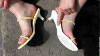 getlinkyoutube.com-Lady Dagmar's Feet in Yellow Sandals