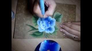getlinkyoutube.com-Rosa azul em One Stroke