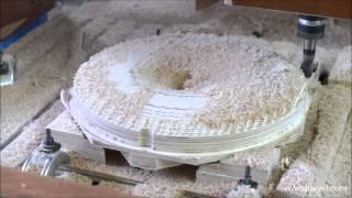 getlinkyoutube.com-3D CNC milling plywood horn speaker