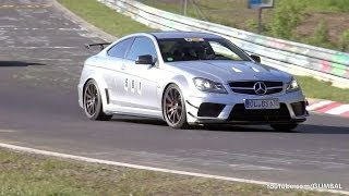 getlinkyoutube.com-Mercedes-Benz C63 AMG Coupe Black Series - Brutal Accelerations!