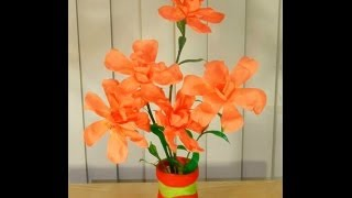 getlinkyoutube.com-Fully Recycled DIY: How to convert waste bottles into a beautiful FLOWER VASE?