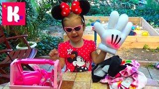 getlinkyoutube.com-Посылка с игрушками Микки Маус от Дисней распаковка Box with toys Minnie Mouse Disney unboxing