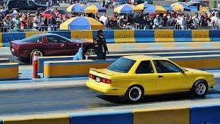 """getlinkyoutube.com-Tsuru GSR Turbo """"Piolín"""" vs Corvette C5. Arrancones Pegaso nov 2014"""