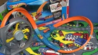 getlinkyoutube.com-Hot Wheels Turbine Twister Track Set Product Review
