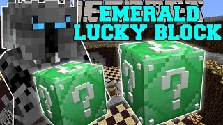 getlinkyoutube.com-Minecraft: EMERALD LUCKY BLOCK (BLOCK OF PURE EPICNESS!) Mod Showcase