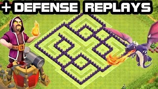 getlinkyoutube.com-CLASH OF CLANS - TH7 Hybrid BASE + Defense REPLAY 2015 COC Town Hall 7 Defense With Air Sweeper