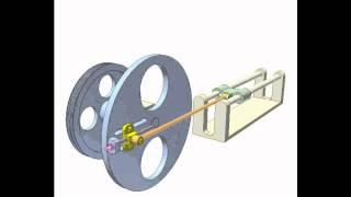 Mechanism for adjusting crank radius 2a