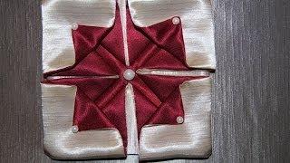 "getlinkyoutube.com-Оригами из ткани цветок ""Гортензия"""