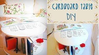 getlinkyoutube.com-CARDBOARD TABLE TUTORIAL- RECYCLED CRAFTS- DIY - Mery
