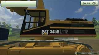 getlinkyoutube.com-Cat345B Excavator mod for Farming Simulator 2013 Part of the Cat Fleet Pack