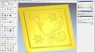 getlinkyoutube.com-Create relief from vector in ArtCAM, ArtCAM tutorial