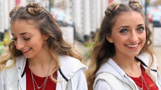 getlinkyoutube.com-Brooklyn's Double-Bun Half Up Hairstyle & HAIR HACK | Cute Girls Hairstyles Tutorial