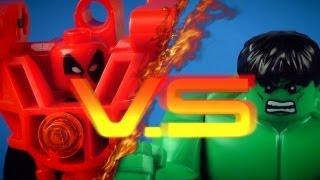 "getlinkyoutube.com-LEGO DEADPOOL VS HULK ""Deadpool Battles"" Series Episode 4"