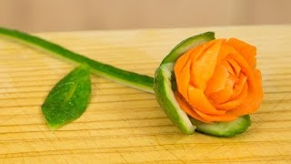 getlinkyoutube.com-How to Make a Carrot Rose Garnish