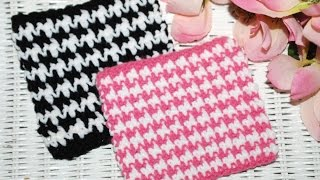 "getlinkyoutube.com-HOW TO: Crochet ""The HOUNDSTOOTH Stitch"""