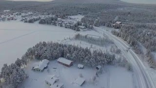 Äkäslompolo from the air (lapland winter 2016)