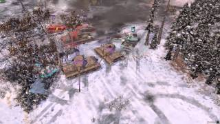 getlinkyoutube.com-Company of Heroes 2 - B4 Howitzer kills two King Tigers