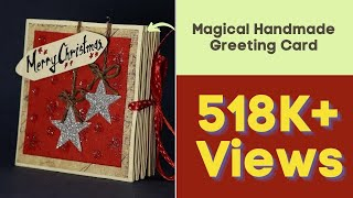 getlinkyoutube.com-DIY Pop Up Corner Christmas Card - Magical Handmade Greeting Card for Christmas