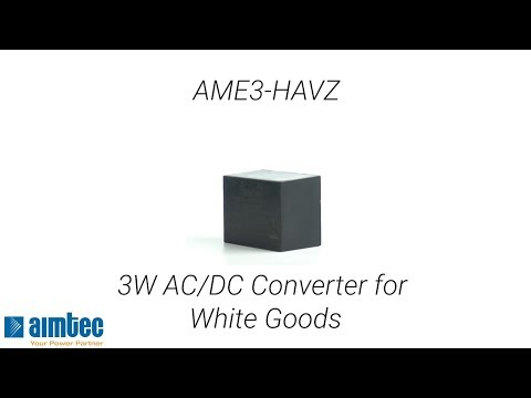 Aimtec Launches its First White Good 3W AC/DC Converter