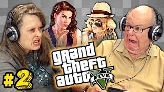 getlinkyoutube.com-Elders Play Grand Theft Auto V #2 (Elders React: Gaming)