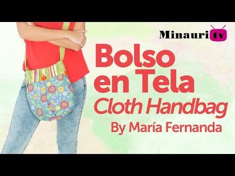 DIY - Fabric Handbag - Bolso en Tela by Minauri ( How to / Hazlo tú )