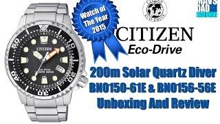 getlinkyoutube.com-Citizen Eco-Drive 200m Quartz Promaster Diver BN0150-61E & BN0156-56E Unboxing And Review