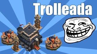 getlinkyoutube.com-Aldea Troll TH9 | Trolleada | Clash of Clans